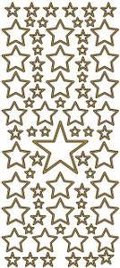 Bilde av Klistremerker - 0185 - Outline stickers - Stjerner - Gull