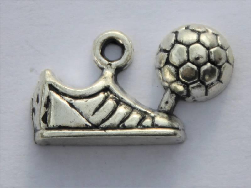 Charms - Fotball sko & ball - Sølv - 4 stk