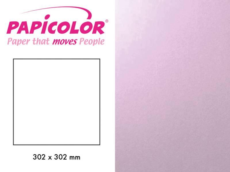 Papicolor - Kartong - 12x12 - 343 - Metallic - Lavendel