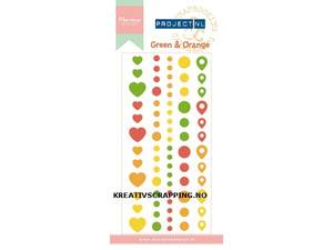 Bilde av Marianne Design - PL4502 - Enamel dots - GREEN & ORANGE