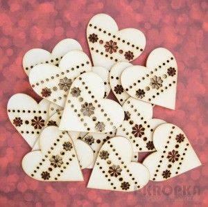Bilde av I Kropka - Chipboard - Snow days - Heart - 10 stk