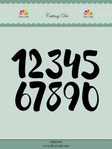 Bilde av Dixi Craft - Dies - MD0144 - Brush Numbers - Big
