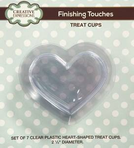 Bilde av Creative Expressions - Shaker - Treat Cups - Heart Shaped - 7stk
