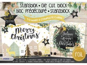 Bilde av Studiolight - 3D die cut block A5 15 - Bright Christmas
