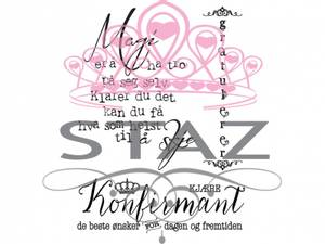 Bilde av Staz Stempelsett - Konfirmasjon