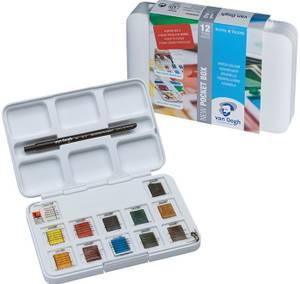 Bilde av Van Gogh - Water Colour Pocket Box  - 12 half-pans + brush no 6
