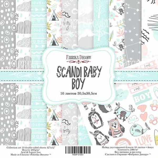 Fabrika Decoru - 12x12 paper pack - 01051 - Scandi baby boy