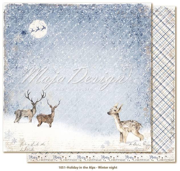 Maja Design - 1051 - Holiday in the Alps - Winter night