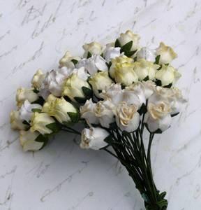 Bilde av Flowers - Hip Rosebuds - SAA-083 - Mixed White / Cream - 40stk