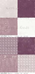 Bilde av Kort & Godt - Mønsterpapir 107453 - Symfoni rosa - 0499