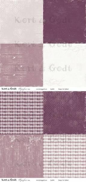 Kort & Godt - Mønsterpapir 107453 - Symfoni rosa - 0499