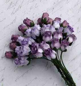 Bilde av Flowers - Hip Rosebuds - SAA-088 - Mixed Purple Tone - 40stk