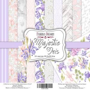 Bilde av Fabrika Decoru - 12x12 paper pack - 01055 - Majestic iris