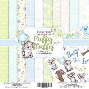 Bilde av Fabrika Decoru - 12x12 paper pack - 01059 - Puffy fluffy boy