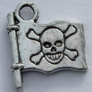 Bilde av Charms - Pirat Flagg - Sølv - 10 stk