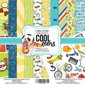 Bilde av Fabrika Decoru - 12x12 paper pack - 01062 - Cool teens