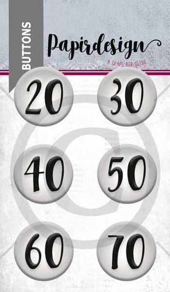 Papirdesign - Buttons - 1900054 - Runddager