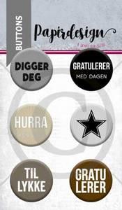 Bilde av Papirdesign - Buttons - 1900055 - Digger deg