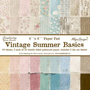 Bilde av Maja Design -  534 - Paper pad 6x6 - Vintage Summer Basics
