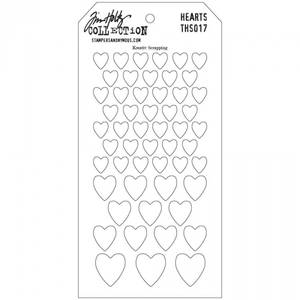 Bilde av Tim Holtz - Layered Stencil - THS017 - HEARTS *