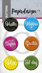Bilde av Papirdesign - Buttons - 1900057 - Du er super