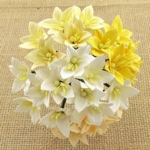 Bilde av Flowers - Lily Flowers - SAA-132 - Mixed White / Cream - 50stk