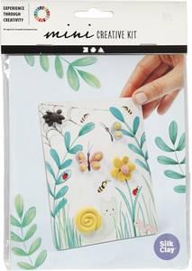 Bilde av Hobbysett - Mini - Modellering - 3D bilde m blomst og sommerfugl