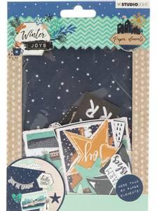 Bilde av Studiolight -   657 - Die Cut Paper Set - Winter Joys