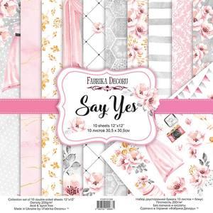 Bilde av Fabrika Decoru - 12x12 paper pack - 01068 - Say Yes