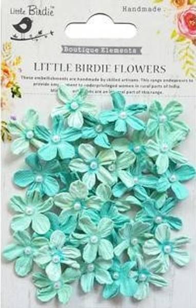 Little Birdie - Paper Flowers - Pearl Petites - Arctic