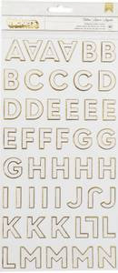 Bilde av Thickers - 376308 - Chipboard - White with Gold Foil - Follow