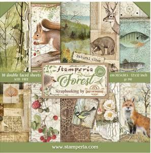 Bilde av Stamperia - 12x12 Paper Pack - 63 - Forest