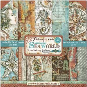 Bilde av Stamperia - 12x12 Paper Pack - 64 - Sea World