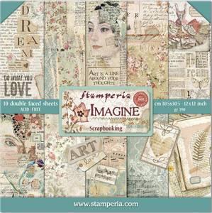 Bilde av Stamperia - 12x12 Paper Pack - 65 - Imagine