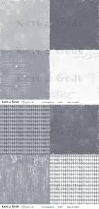 Bilde av Kort & Godt - Mønsterpapir 107451 - Symfoni blå - 0475