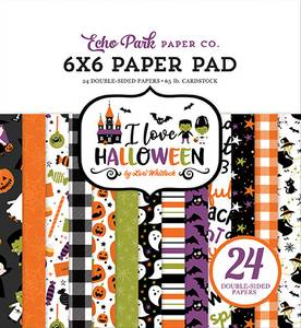 Bilde av Echo Park - I Love Halloween - 6x6 Paper Pad