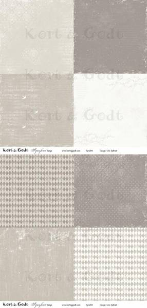 Kort & Godt - Mønsterpapir 107450 - Symfoni beige - 0468