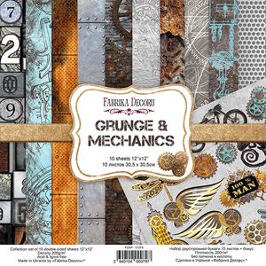 Bilde av Fabrika Decoru - 12x12 paper pack - 01079 - Grunge & Mechanics
