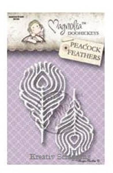 MAGNOLIA DOOHICKEY DIES - OUT13 - PEACOCK FEATHERS
