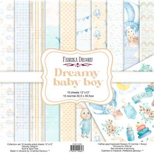 Bilde av Fabrika Decoru - 12x12 paper pack - 01080 - Dreamy baby boy