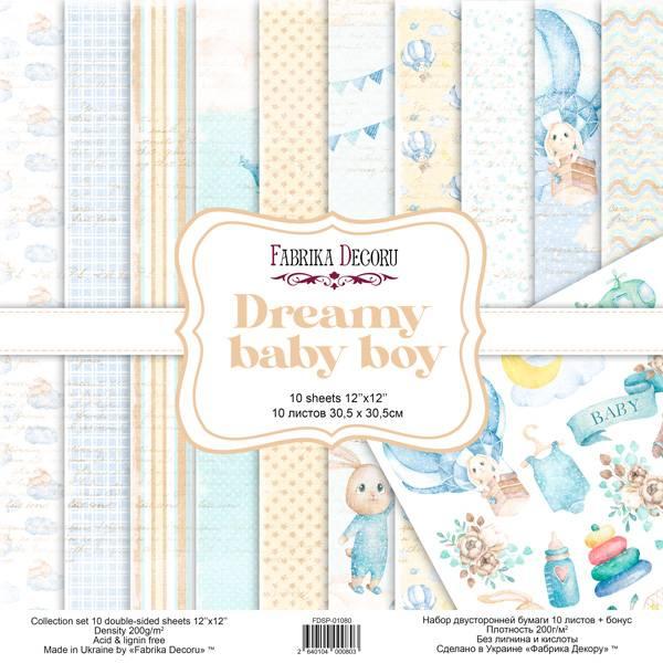 Fabrika Decoru - 12x12 paper pack - 01080 - Dreamy baby boy