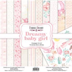 Bilde av Fabrika Decoru - 12x12 paper pack - 01081 - Dreamy baby girl