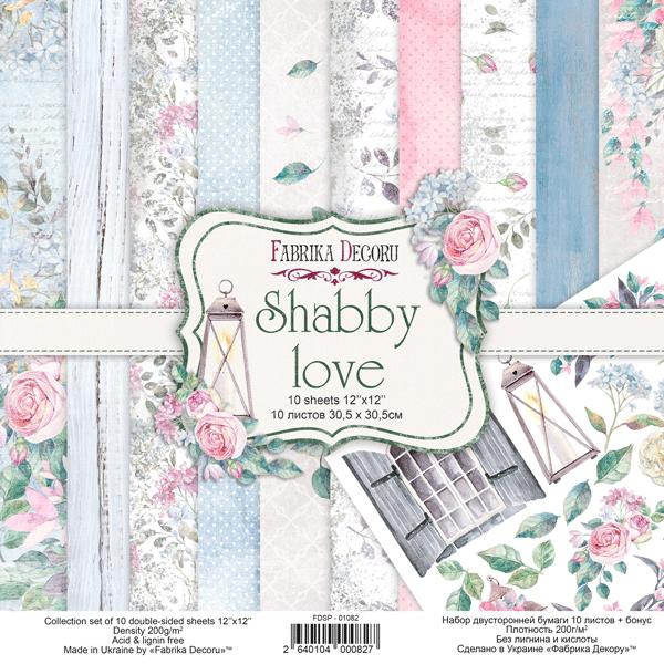 Fabrika Decoru - 12x12 paper pack - 01082 - Shabby love