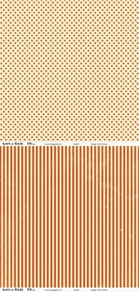 Kort & Godt - Mønsterpapir 107438 - Retro rød - 0345