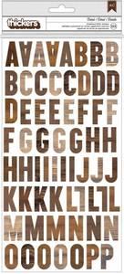 Bilde av Thickers - 733488 - Printed Chipboard - Brown Wood - Detail