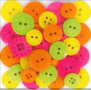 Bilde av Dress it up - Buttons - 7397 - Tropical Escape (Neon farger)