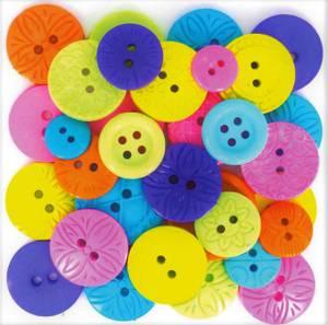 Bilde av Dress it up - Buttons - 7400 - Zippity Do Dah (Neon farger)