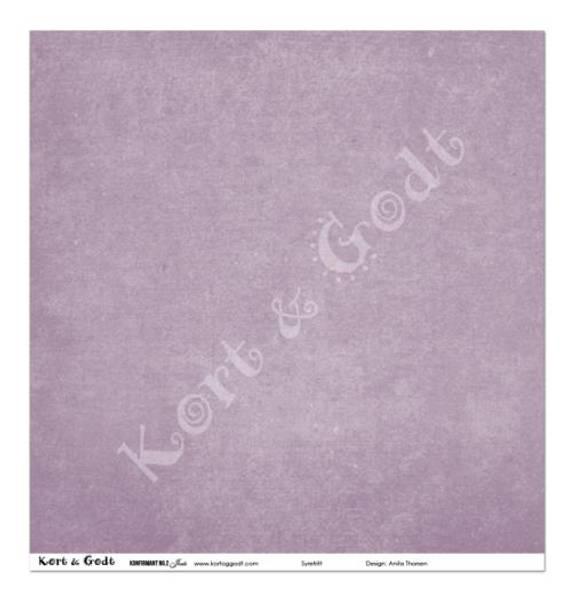 Kort & Godt - Mønsterpapir 107866 - Konfirmant nr 2 Jente - 4114