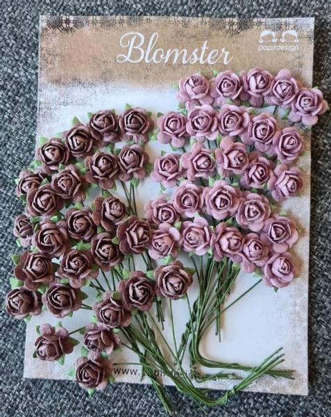 Papirdesign - Roser - 1,0cm - Vintage rosa (lilla)