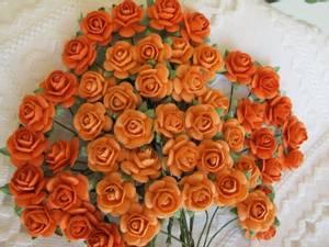 Bilde av Papirdesign - Roser - 1,2cm - Orange
